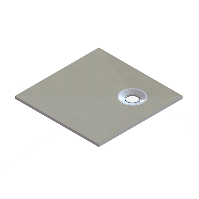 Drench Square Shower Tray Former with Corner Waste & Installation Kit