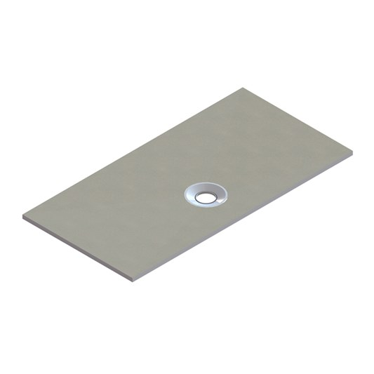 Drench Shower Tray Former with Offset Waste & Installation Kit