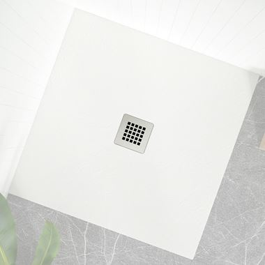 Drench Naturals Light Grey Shower Waste Grid