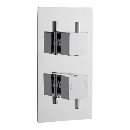 Drench 2 Outlet Square Concealed Thermostatic Shower Valve with Diverter