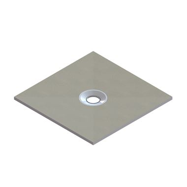 Drench Square Shower Tray Former with Centre Waste & Installation Kit