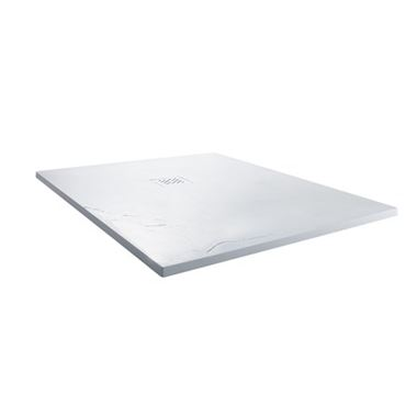 Drench Ultra Thin White Slate Effect Square Shower Tray - 900 x 900mm