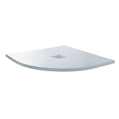 Drench Ultra Thin White Slate Effect Quadrant Shower Tray - 800 & 900mm
