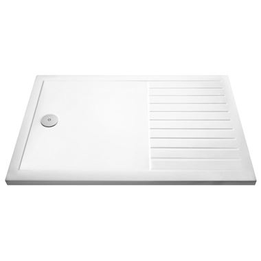 Drench Walk-in Wetroom Shower Tray with Draining Area - 1400x900