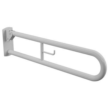Drench White Hinged 850mm Grab Rail