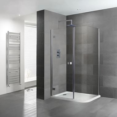 Eastbrook Volente Curved Corner Shower Enclosure & Shower Tray