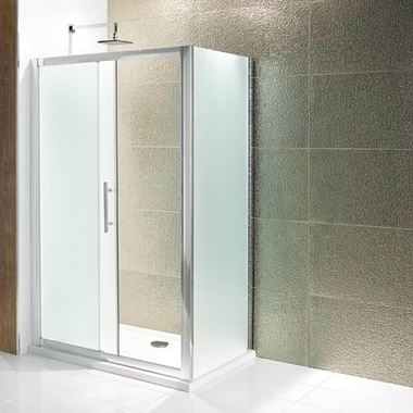 Eastbrook Volente Frosted Slider Door with Optional Side Panel