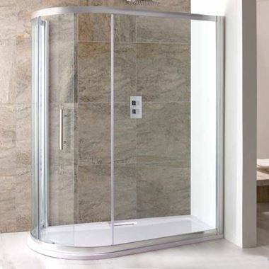 Eastbrook Volente Sliding Spacesaver Quadrant Shower Enclosure & Shower Tray