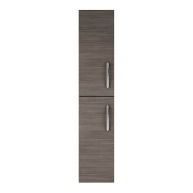 Emily 2 Door Tall Storage Cupboard - Grey Avola