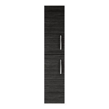 Emily 2 Door Tall Storage Cupboard - Hacienda Black
