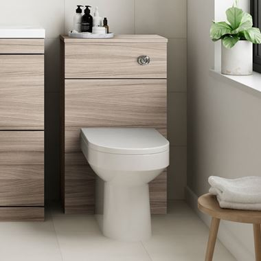 Emily 500mm Back to Wall Toilet Unit - Driftwood