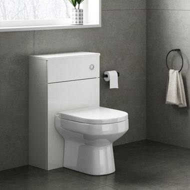 Emily 500mm Back to Wall Toilet Unit - Gloss White