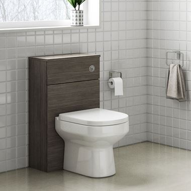 Emily 500mm Back to Wall Toilet Unit - Grey Avola