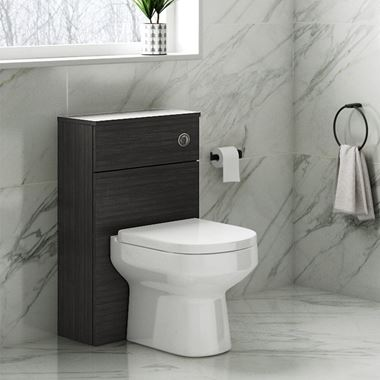 Emily 500mm Back to Wall Toilet Unit - Hacienda Black