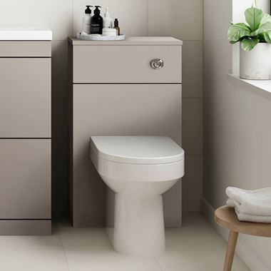Emily 500mm Back to Wall Toilet Unit - Matt Stone Grey