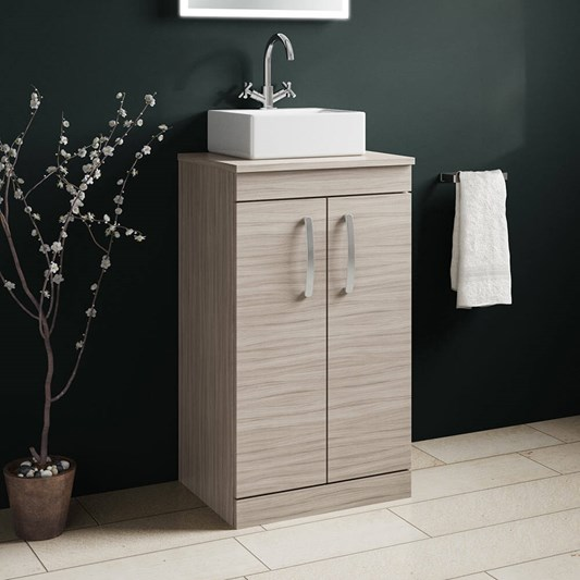 Emily 500mm Floorstanding Unit and Countertop - Driftwood