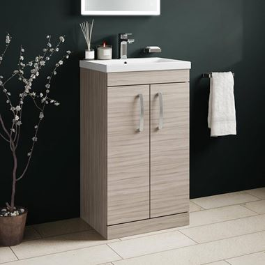 Emily 500mm Floorstanding Vanity Unit & Basin - Driftwood