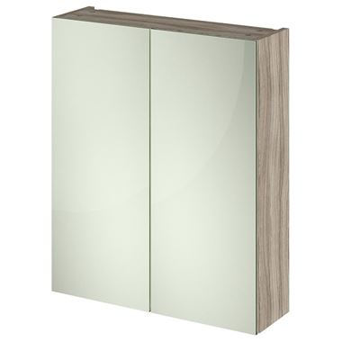 Emily 600mm Mirror Cabinet - Driftwood
