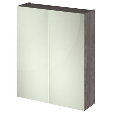 Emily 600mm Mirror Cabinet - Grey Avola