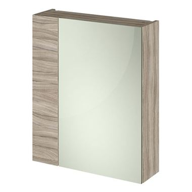 Emily 600mm Mirror Cabinet with Offset Door - Driftwood