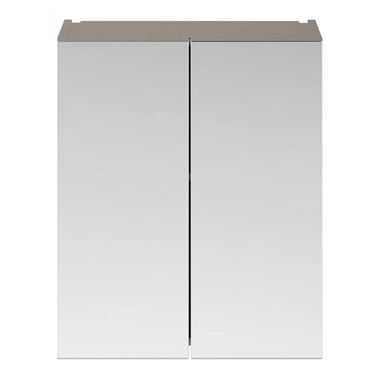 Emily 600mm Mirror Cabinet - Matt Stone Grey