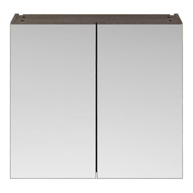 Emily 800mm Mirror Cabinet - Grey Avola