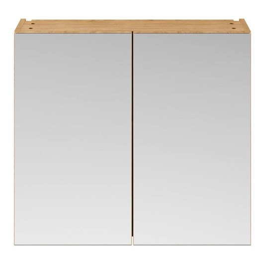 Emily 800mm Mirror Cabinet - Natural Oak