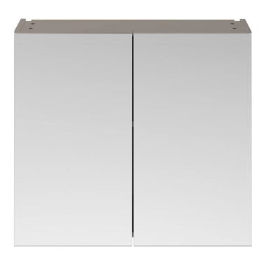 Emily 800mm Mirror Cabinet - Matt Stone Grey