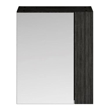 Emily 600mm Mirror Cabinet with Offset Door - Hacienda Black