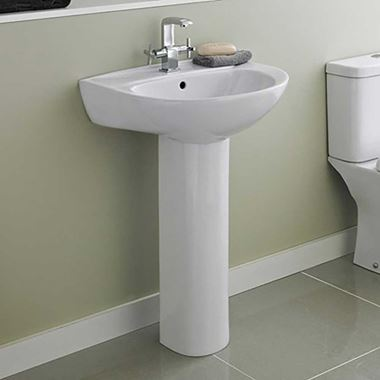 Emma 550mm Full Pedestal & Basin
