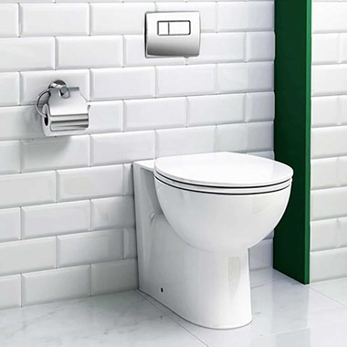 Emma Back to Wall Toilet & Soft Close Seat - 520mm Projection