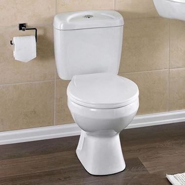 Emma Close Coupled Toilet & Seat - 630mm Projection