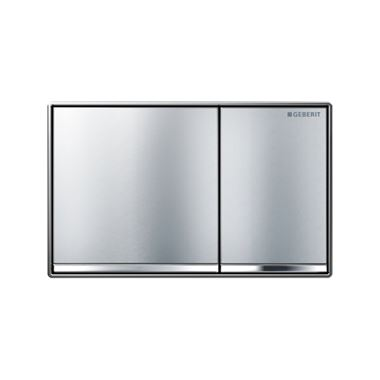 Geberit Omega60 Dual Flush Plate - Brushed Chrome