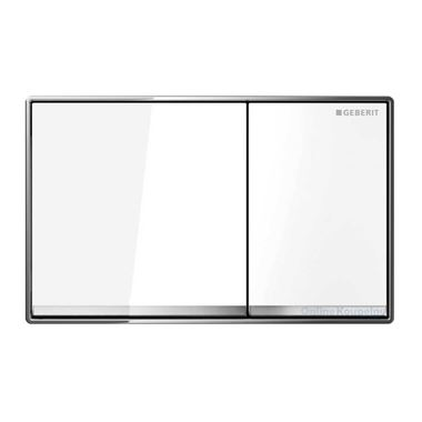 Geberit Omega60 Dual Flush Plate - White Glass