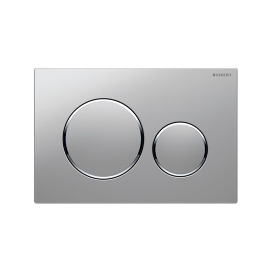 Geberit Sigma20 Dual Flush Plate - Matt/Gloss Chrome