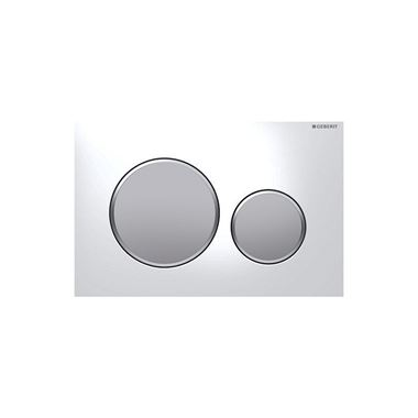 Geberit Sigma20 Dual Flush Plate - White/Matt Chrome