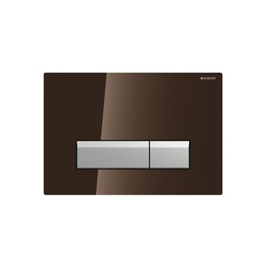 Geberit Sigma40 Glass Dual Flush Plate - Brown
