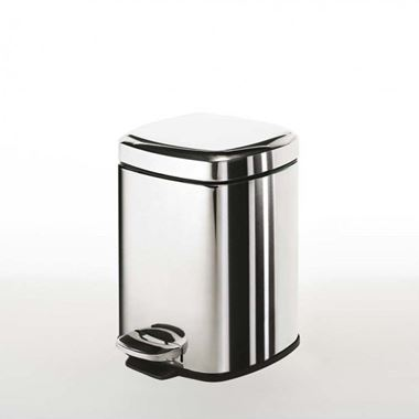 Gedy 3 Litre Square Pedal Bin
