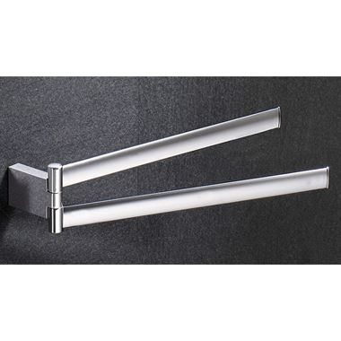 Gedy Kent Double Swing Towel Rail - 232mm