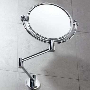 Gedy Reversible Magnifying Wall Mirror - 280 x 280mm
