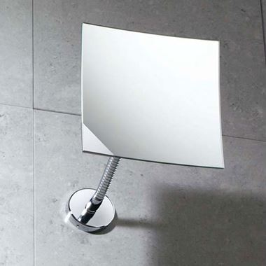 Gedy Square Magnifying Wall Mirror - 150 x 150mm