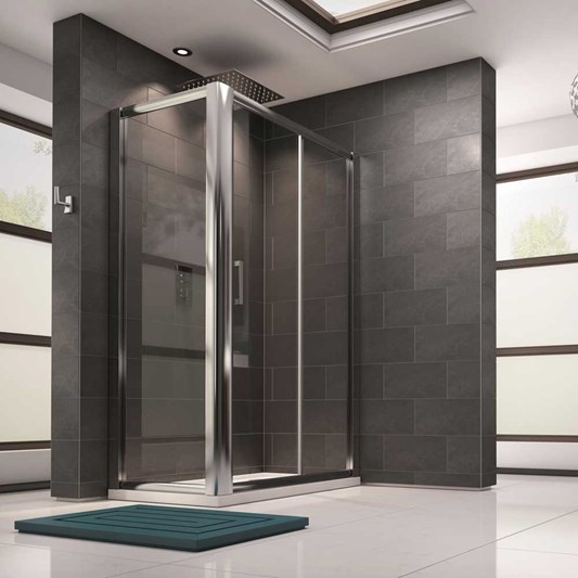 Harbour 8mm Toughened Glass Sliding Shower Door and Optional Side Panel
