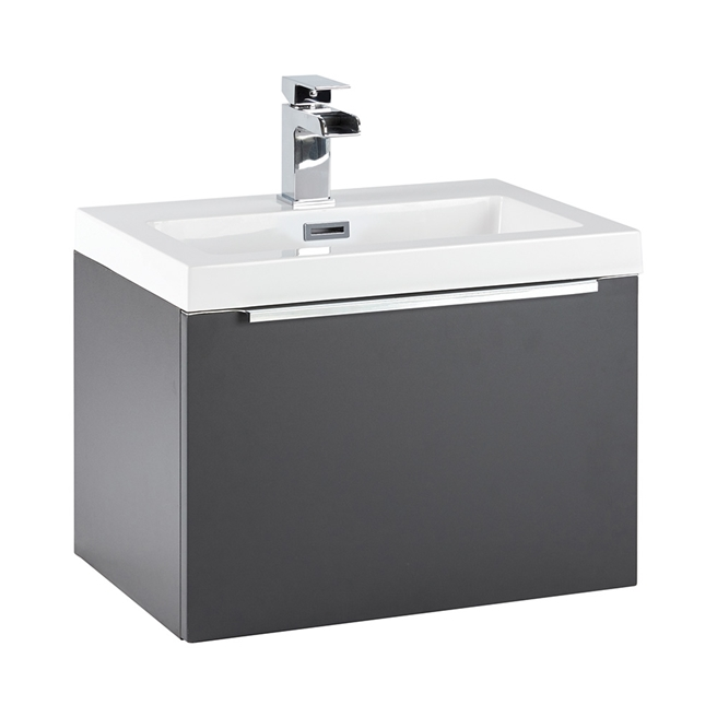 Harbour Alchemy 500mm Wall Hung Vanity Unit & Basin - Matt Graphite Grey