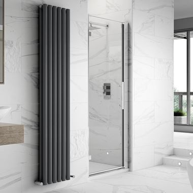 Harbour Alchemy 8mm Easy Clean Hinged Shower Door & Optional Side Panel
