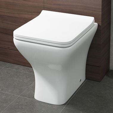 Harbour Alchemy Back to Wall Toilet & Wafer Thin Soft Close Seat - 494mm Projection