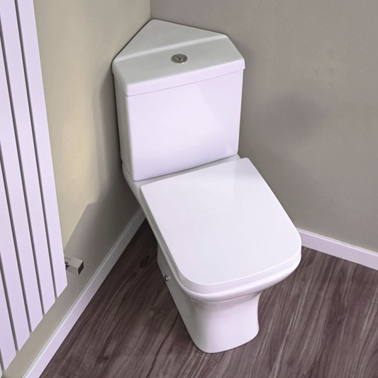 Harbour Alchemy Corner Toilet & Soft Close Seat - 783mm Projection