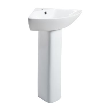 Harbour Alchemy Full Pedestal & Corner Basin - 450mm