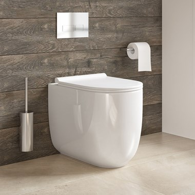 Harbour Status Rimless Back to Wall Toilet & Wafer Thin Soft Close Seat - 520mm Projection