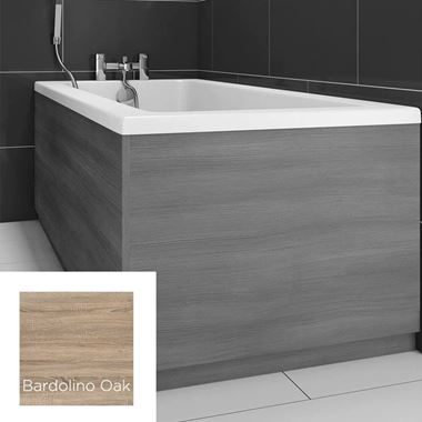 Harbour Bardolino Driftwood Oak 800mm Vinyl Wrap Bath End Panel
