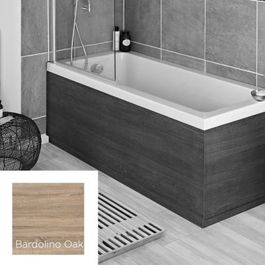 Harbour Bardolino Driftwood Oak 1800mm Vinyl Wrap Bath Panel